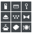 Hotel icon collection vector image vector image