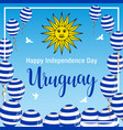 independence day of uruguay vector image vector image
