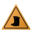 industrial boots icon sign vector image