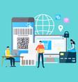 international business modern technologies gadgets vector image vector image