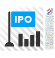 ipo bar chart flat icon with bonus vector image vector image