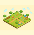 isometric kid playground vector image vector image