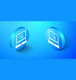 isometric website on laptop screen icon isolated vector image vector image