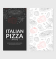 italian pizza hot and tasty card template vector image