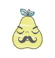 kawaii nice sleeping pear icon vector image vector image