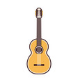 line guitar icon vector image