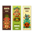 maya civilization vertical banners vector image