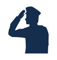 military man silhouette icon vector image vector image