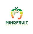 mind nutrition logo designs vector image vector image