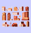 minimal houses urban environment construction vector image vector image