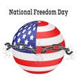 National Freedom Day of a vector image vector image
