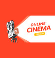online cinema poster concept background movie vector image