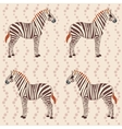 Pattern with zebras and flower stripes vector image vector image