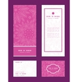 pink abstract flowers texture vertical frame vector image vector image