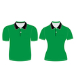 polo shirt men and woman outline vector image