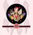 poster for site or print with ice cream vector image