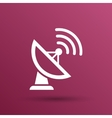 Radar icon satellite dish tv technology vector image