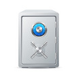 realistic detailed 3d security metal safe vector image vector image