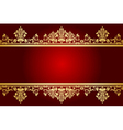 red and gold frame vector image vector image
