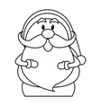 santa claus cartoon character merry christmas vector image vector image