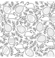 Seamless pattern with Easter eggs bunnies vector image vector image