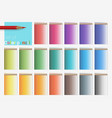 set color pencils vector image