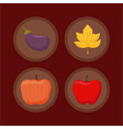 set icons of thanksgiving day happy vector image vector image
