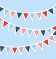 set multicolored flat buntings garlands vector image vector image