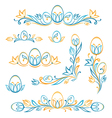 Set of decorative easter elements vector image vector image