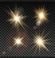 set of lighting sparks on transparent background vector image vector image