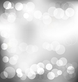 Silver elegant abstract background with bokeh vector image vector image