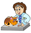 small rodent at veterinarian vector image