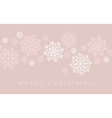 snowflake winter background in gentle feminine vector image