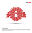 snowman icon - red ribbon banner vector image
