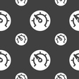speed speedometer icon sign Seamless pattern on a vector image