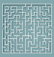 square labyrinth maze vector image vector image