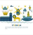 Stockholm travel vector image vector image
