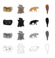 stone age history and other web icon in cartoon vector image vector image