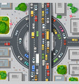 top view of city map crossroads of urban streets vector image vector image