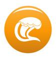 wave surfing icon orange vector image vector image