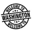 welcome to washington black stamp vector image vector image