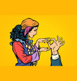 woman fortune teller gypsy palmistry hand vector image vector image