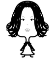 Woman with long hair sketch vector image