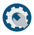 wrench gear flat icon vector image vector image