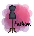 female fashion manequin icon vector image