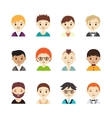 Collection of different avatars with men vector image