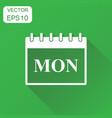 monday calendar page icon business concept monday vector image