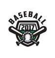 baseball 2017 logo template design element for vector image