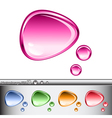 Set of glass speech bubbles of different colors vector image