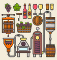 wine production line or winery winemaking vector image